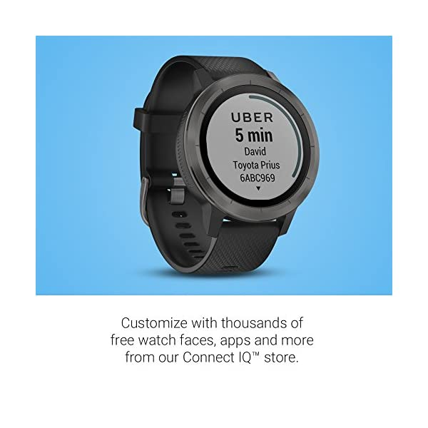Garmin vívoactive 3 GPS Smartwatch – Black & Gunmetal (Renewed)