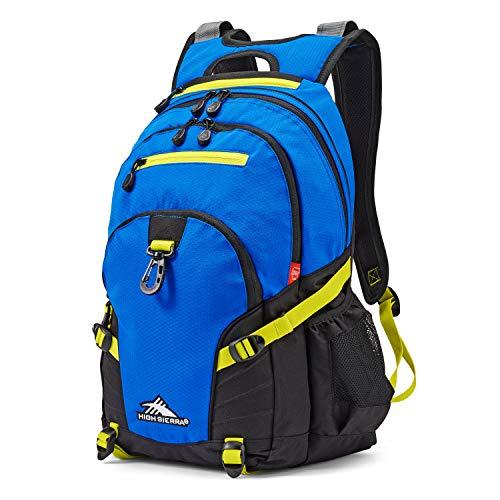 High Sierra Loop Backpack, Vivid Blue/Glow, 19 x 13.5 x 8.5-Inch