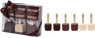 Hot Chocolate Sticks - 6 Pack Classic Gift Box - Dark, Milk, Vanilla White Chocolate