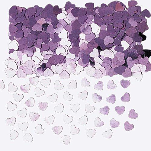 amscan 9900861 14 g Sparkle Coeurs Confettis métalliques