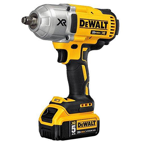 DEWALT 20V MAX XR Cordless Impact Wrench Kit with Hog Ring Anvil, 1/2-Inch (DCF899HP2)