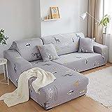 Home Schonbezug Dekor Elastische Ecke Sofabezug Für Wohnzimmer Stretch Couchbezug Für Sofa Puff Sitz Sessel Zusammenbauen C9 2er-Sofa 145-185cm-1pc