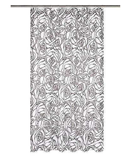 miomare Duschvorhang Vorhang Dusche Badezimmer 180 x 200 cm - Braun Rosen