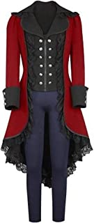 Women's Gothic Tailcoat Steampunk Jacket Tuxedo Suit Coat Victorian Costume