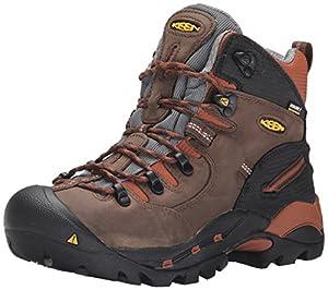 "KEEN Utility mens Pittsburgh 6"" Soft Toe Waterproof Work Boot,Cascade Brown/Bombay Brown,11D"