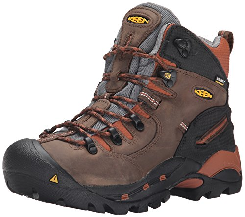 KEEN Utility mens Pittsburgh 6' Soft Toe Waterproof Work Boot,Cascade Brown/Bombay Brown,10D