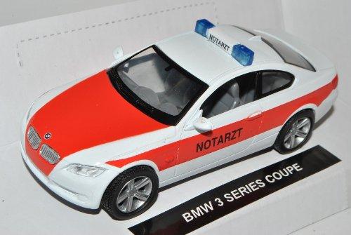 B-M-W 3er M3 E92 Coupe Weiss Notarzt 2005-2013 1/43 New Ray Modell Auto mit individiuellem Wunschkennzeichen