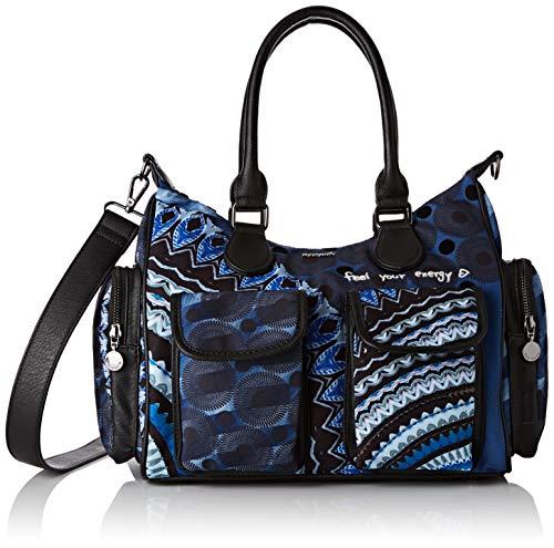 Desigual Damen Bag Rep Frien Umhängetasche, Blau (Blue Indigo), 15.5x25.5x32 cm