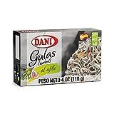 Dani Baby Eel ( Surimi ) Pack of 25 units , in Garlic Sauce ( Gulas/Surimi) Canned 4 oz ( 110 g)