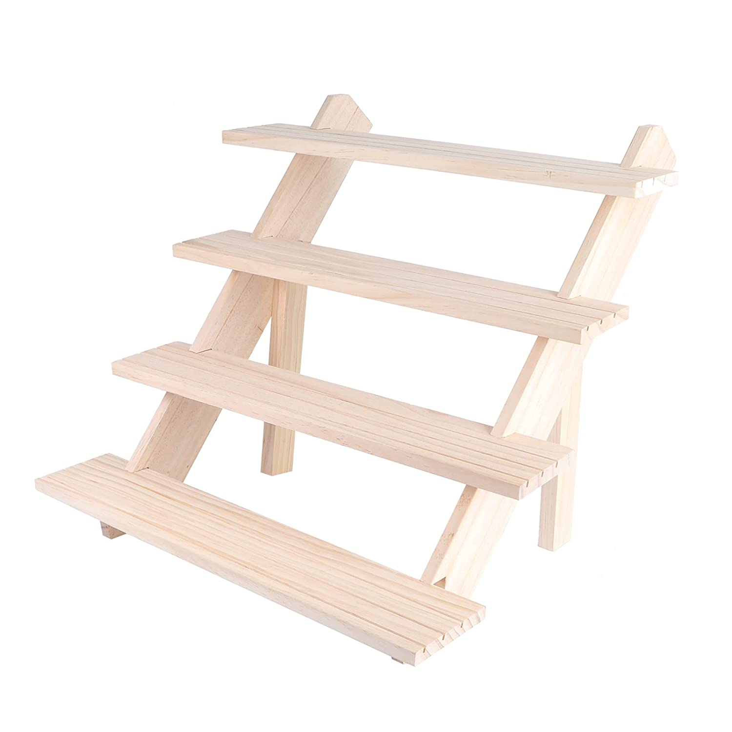 FOMIYES 1Pcs Wooden Jewelry Rack 4- Oklahoma City Mall 55% OFF Card H layer Display Earring