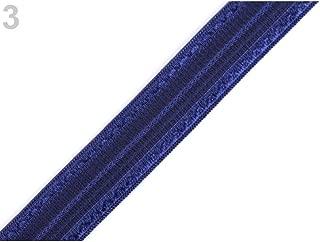 18m 3 Paris Blue Lingerie Bra Strap Shoulder Elastic Width 17mm, Knit, Haberdashery