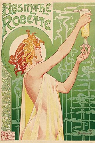 1art1 Historische Werbeplakate - Grüne Fee, Absinthe Robette, Henri Privat Livemont, 1896 Selbstklebende Fototapete Poster-Tapete 180 x 120 cm
