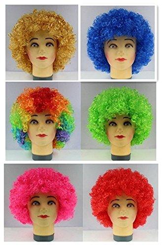 Bllomsem Cosplay esplosive fan capo parrucca festa pazza divertenti costume divertente puntelli pagliaccio parrucca colorata