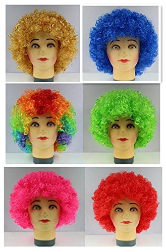 Apanphy® Explosive Cosplay Kopf Perücke Partei Fans verrückt lustige Kostüm lustig Props Clown Perücke rot