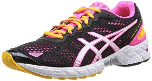 ASICS Damen Gel-Ds Trainer 19 Traillaufschuhe, Schwarz (9001-Schwarz/White/Neon Pink), 39 EU