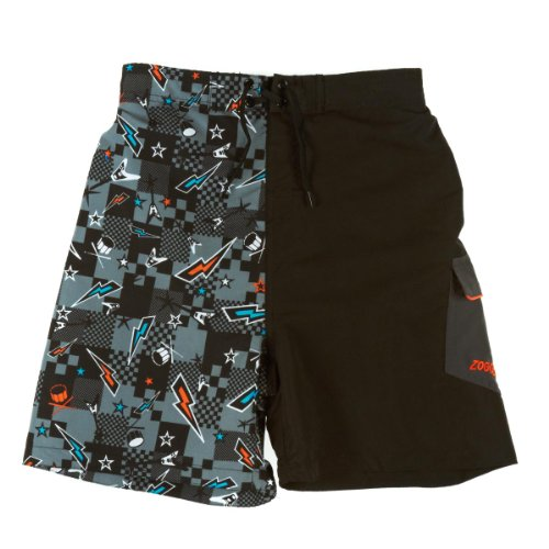 Zoggs zwembroek Maloneys Board Shorts Junior Blue/Oranje