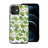 Kermit The Frog Muppet Children's Furry Toys iPhone 12 Case Anime iPhone 12 Case Cover Tempered Glass Back Cover