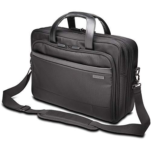 "Kensington Contour Carrying Case (Briefcase) for 15.6"" Notebook - Black, 16.5"" x 18.3"" x 6"""