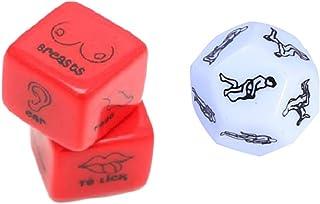 SUPVOX 3 pezzi divertenti e romantici giochi di ruolo gioco di dadi regalo novità per addio al nubilato luna di miele