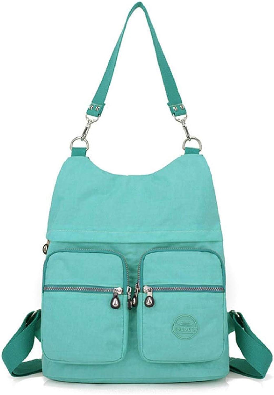 1a6357fac7ec Nylon Casual Backpack Lightweight MultiPocket Shoulder Bag Large ...