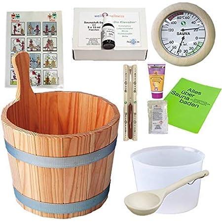 SudoreWell® Starter Set 5 Kit seau et accessoires pour sauna 5 / Lot de 5-10 pièces