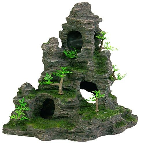 Trixie 8859 Felsformation mit Höhle/Pflanzen, stehend, 31 cm