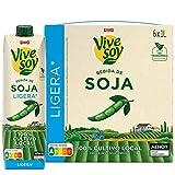 Vivesoy - Bebida Vegetal de Soja Ligera - Pack de 6 x 1 L