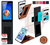 reboon Hülle für Huawei Honor 3C Tasche Cover Hülle Bumper | Braun Leder | Testsieger