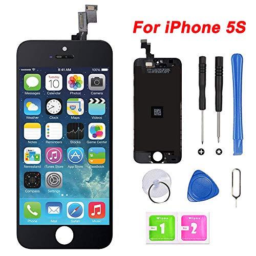 Hoonyer Ecran iPhone 5s/Se Noir LCD Display Vitre Tactile Complet Remplacement d'écran avec Kit de Réparation iPhone 5s (4.0 Pouces) …
