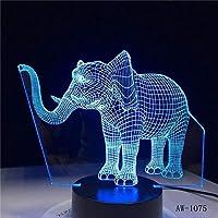 家の装飾ランプの目の錯覚のためのライトと3DLEDナイトライトダンスエレファント