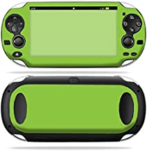 MightySkins Skin Compatible with PS Vita PSVITA Playstation Vita Portable wrap Sticker Skins Solid Green