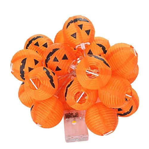 TTYAC 6/10/20 LED pompoen lantaarn lamp horriable Ghost Garden pompoen Halloween lantaarns feestelijke supplies decoratie, mint groen, andere