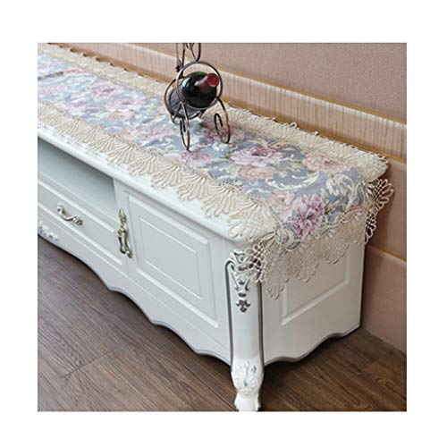 GXYAWPJ snörning enkla bordslöpare, mjuk sidenretro elegant användbar för kaffebord tv-skåp kommode (färg: C, storlek: 40 x 80 cm)