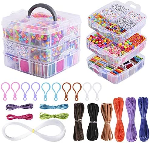 Peirich Jewelry Making Bead Kit Includes 44 Colors Embroidery Floss with 3 Tier Organizer Storage product image