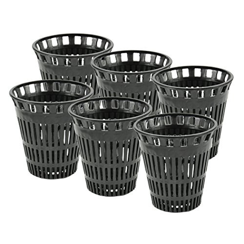 Danco 10739P Catcher Replacement Baskets for Stand-Alone Shower Trap | Hair Drain Clog Prevention, Pack of 6, Black