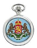 Finlandia Escudo Reloj Bolsillo Hunter Completo