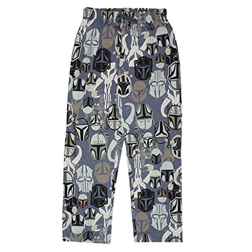 Star Wars The Mandalorian Mythosaur Logo Hombre Lounge Pantalones Azul/Heather Grey XS