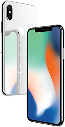 Apple iPhone X Plata 64 GB (Renewed)