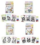 ノブカンパニー マジックねんど カード作成キット4種類(ネコ/フラワーメロディー/キラキラ/スイーツ)セット MS4200