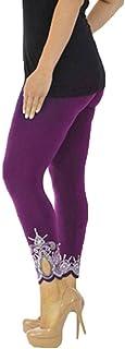 TEBAISE Women Sport Yoga Print Workout Mid Waist Running Pants Fitness Elastic Leggings