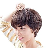 部分ウィッグ 前髪Mサイズ 人毛100% (前髪BP02、H12明るい栗色) 少し気になる白髪や円形脱毛、薄毛隠しに! 簡単ボリュームアップに! ブリーチしてメッシュに! ライツフォル