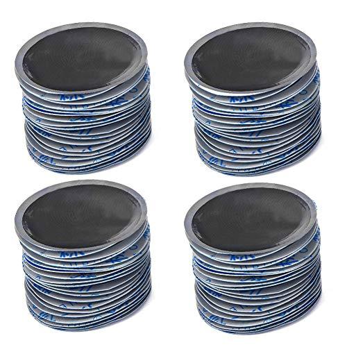 Parche de reparación de neumáticos-80Pcs/Caja 58mm Coche Redondo de caucho natural Reparación de pinchazos de neumáticos Parche frío Parches sin cámara