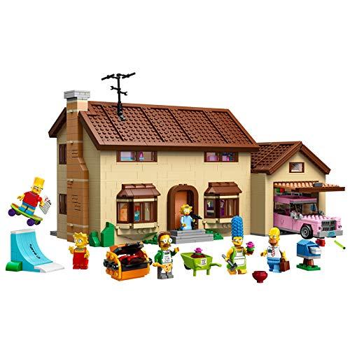 Puzzle 3D Kits De Construcción De Arquitectura De Juguetes Regalo para Niños Y Adultos Rompecabezas 3D Kit De Construcción DIY con Folleto- Casa Simpson