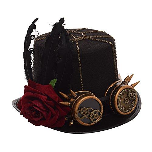 GRACEART Victoriano Steampunk Parte Superior Sombrero (