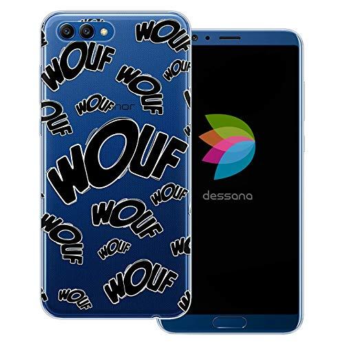 dessana Comic Zeichen transparente Schutzhülle Handy Case Cover Tasche für Huawei Honor View 10 Wouf