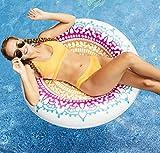 Fun Mandala Float Kids Adults Teens Float Beach Ball Loungers Backyard Play Lounge Water Slide Inflatable Summer Outdoor Pool Swimming