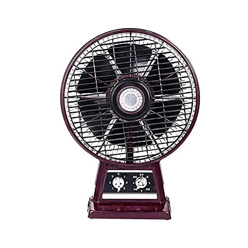 Ventilatore da Tavolo Retrò con 6 Pale, Ventilatore da Pavimento Portatile, Regolazione Della Velocità Del Vento a 3 Velocità, Temporizzazione di 60 Minuti, per Case, Uffici e Camere da Letto