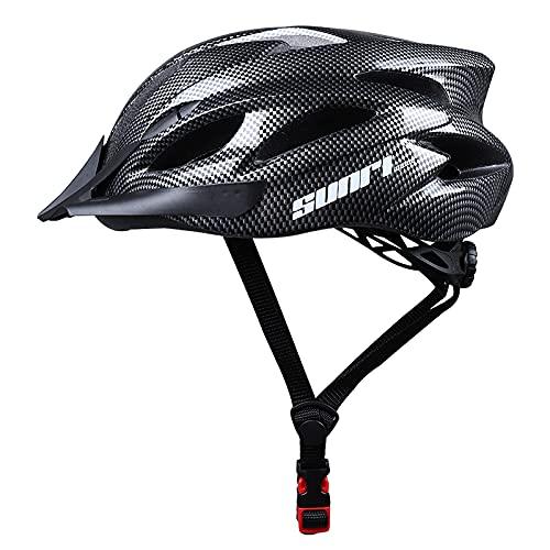Sunrimoon Adult Bike Helmet Men Women - Adjustable Size Dial Bicycle Helmet with Adjustable Visor, Rode Bike Helmet with Reflective Safety Ribbon Titanium