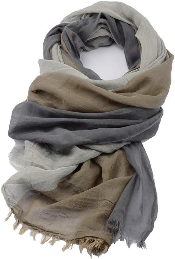 Men Scarf Tassel Scarf Shawl Men Winter Fall Wrap Scarf Woman Lightweight Scarves Soft Warm Simple Colors Fashion Scarf for Men (Color : 1)