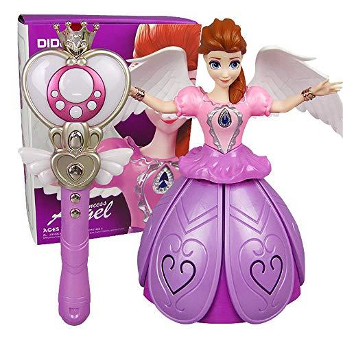 Fernbedienung Mädchen Tanzen Prinzessin Musik Puppe, Tanzen Prinzessin Roboter, Elektronische Tanzen Musik Roboter Mädchen Kinder (USB, pink)